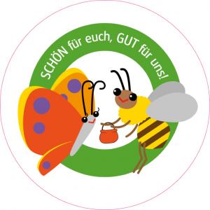 """Sticker """"Bienen- und Schmetterlingspflanzen"""""""