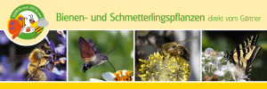 """PVC-Outdoorbanner """"Bienen- und Schmetterlingspflanzen"""""""