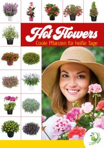 """Poster """"Hot Flowers - Coole Pflanzen für heiße Tage"""""""