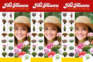 """Prismaständer """"Hot Flowers - Coole Pflanzen für heiße Tage"""""""