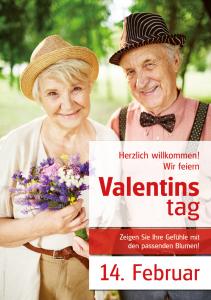 Poster Valentinstag - mit Menschen