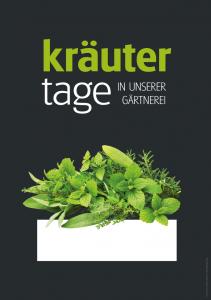 Poster Kräutertage - einfach