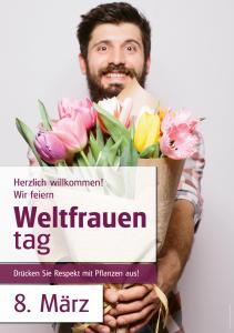 Poster Weltfrauentag - mit Menschen