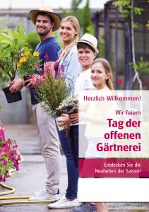 Poster Tag der offenen Gärtnerei - mit Menschen