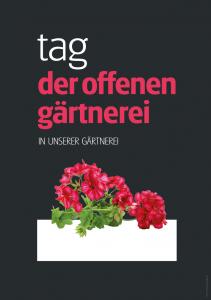 Poster Tag der offenen Gärtnerei - einfach