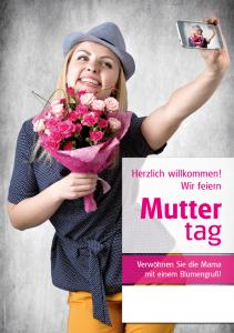 Poster Muttertag - mit Menschen