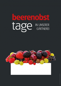 Poster Beerenobsttage - einfach