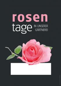 Poster Rosentage - einfach