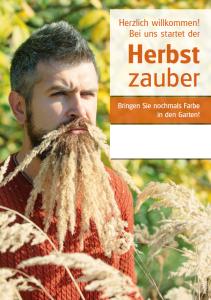 Poster Herbstzauber - mit Menschen
