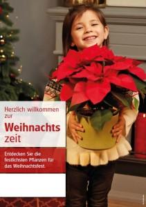 Poster Weihnachtszeit - mit Menschen